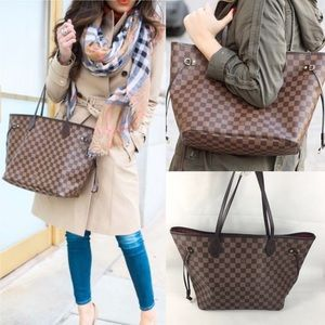 FRANCE💋NEVERFULL MM💋ebene Louis Vuitton tote